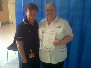 Gail Milward-Jackson Bank Worker of the Month -Warrington Hospital